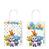 12 Word Party Bags Birthday Gift Favor Goodie Candy Gifts Goody Paper Treat Theme Bag, Well for Girls or Boys