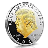 Donald Trump 2020 Challenge Coin Keep America Great United States Presidential Re-Election Campaign Gold Plated Collectible Eagle Coins with Hang Tag and Enclosure