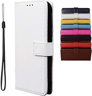 BRAND SET Case for Samsung Galaxy M01 Core Case Wallet Style Faux Leather flip Case with Secure Magnetic Closure Lock and ...