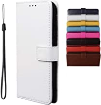 BRAND SET Case for Infinix Note 7 Lite/Infinix Hot 9 Case Wallet Style Faux Leather flip Case with Secure Magnetic Closure Lock and Bracket Function Suitable for Infinix Hot 9/Note 7 Lite(White)