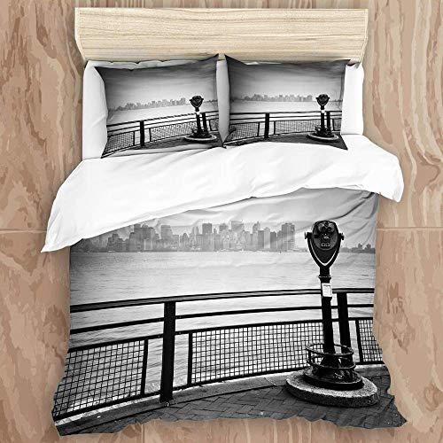 779 printed duvet cover,nyc new york city usa manhattan brooklyn bridge hudson river cityscape urban landscape liberty miss,microfiber quilt cover(230x220cm),Pillowcase 50x80cm