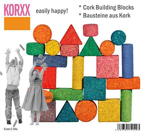 Korxx korxx4260385790293630g Form Mix Farbige Baustein in Tasche (28tlg)