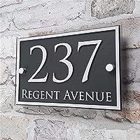 家屋番号 カスタムアクリルハウス数ドアナンバーハウスサインアパートの住所影響ガラスビニールステッカー プラーク (Size : 21*14cm)