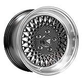 15x7 Enkei ENKEI92 (Black w/ Machined Lip) Wheels/Rims 5x114.3 (465-570-6538BK)