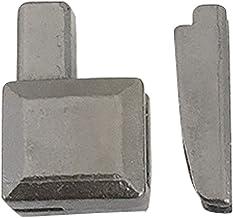 Milageto 20 sets # 5 pennen voor het insteken van de ritssluiting voor de reparatie van de metalen ritssluiting, grijs