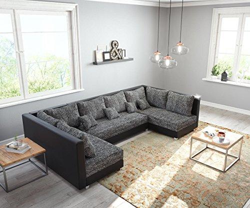 DELIFE Couch Panama Schwarz Wohnlandschaft modular