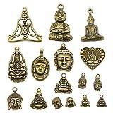 Ciondoli a forma di Buddha in bronzo antico, fatti a mano, 100 g