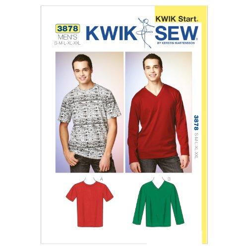 Kwik Sew K3878 Shirts Sewing Pattern, Size S-M-L-XL-XXL