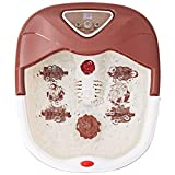 Giantex Foot Spa Bath Massager with Heat, Bubbles Vibration and 4...