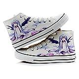 KUNIUO Hatsune Miku Hombres Mujeres Zapatos De Lona Gimnasio...