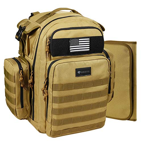 Dinictis 40L Diaper Bag Backpack for Dad,Tactical Travel Baby Nappy Bags for Men,Baby Accessories for Daddy- Jungle Brown