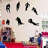 Autocollant mural Grand joueur de rugby Autocollant mural Chambre d'enfant Chambre d'enfant Rugby Football Sport Stickers muraux Bébé Bébé Vinyle Home Decoration-Nude_80 cm x 57 cm cooldeerydm