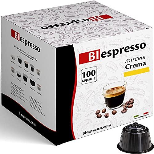 Caffè Biespresso - Capsule Compatibili Dolce Gusto - Confezione da 100 - Miscela Crema