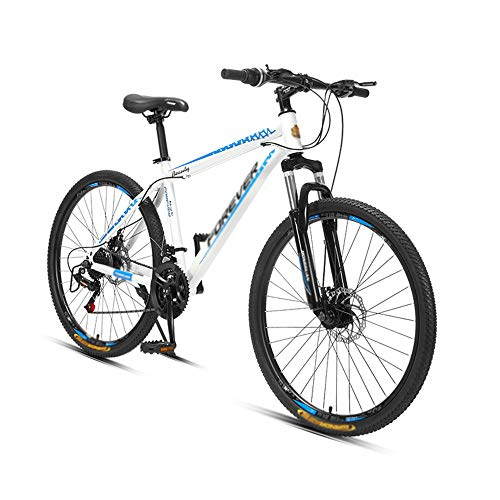 Bicicleta, Bicicleta de Montaña, Bicicleta Amortiguadora de 24 Pulgadas Y 26 Velocidades, con Marco de Acero con Alto Contenido de Carbono, para Adultos, Freno de Disco Doble, DiseñO de Bajo Alca