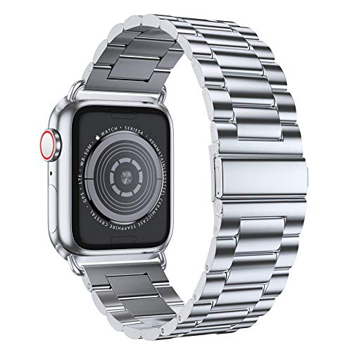 EPULY Compatible with Apple Watch Band 42mm 44mm 38mm 40mm, Business Stainless Steel Metal Wristband for iWatch Series 5/4/3/2/1