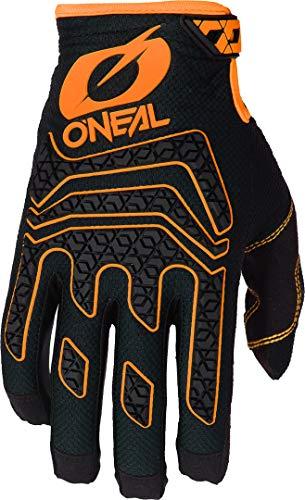 O'NEAL | Fahrrad-& Motocross-Handschuhe | MX MTB DH FR Downhill Freeride | Langlebige, Flexible Materialien, Silikonprint für Grip | Sniper Elite Glove | Erwachsene | Schwarz Orange | Größe L