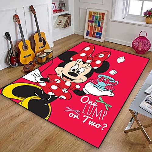 QNYH Tapis De Jouet pour Enfants De Dessin Animé Mickey Minnie Baby, Tapis De Décoration De Chambre De Bébé pour Filles, Tapis Antidérapant De Chevet 80cmx150cm