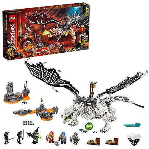 LEGO 71721 NINJAGO Drache des Totenkopfmagiers, 2-in-1 Bauset und Brettspiel mit Skelett-Rittern Minifiguren