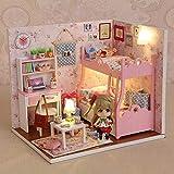 WSYGHP Jouets éducatifs en bois pour maison de poupée - Accessoires riches - Cadeaux d'anniversaire pour enfants