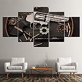Pintura de Lienzo Pistolas y Armas de Fuego Art 5 Pintura Mural Papel Tapiz Modular impresión de póster Sala de Estar decoración del hogar sin Marco