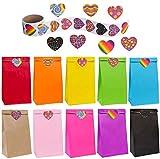 flintronic Bolsas de Regalo, 50 pcs Bolsa de Papel Kraft Bolsas de Papel en 10 Colores (+ ...