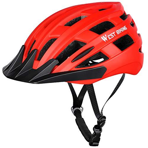 WESTGIRL Fahrradhelm, Bike Radhelm Auf Die Helme, Schutzhelm für Mountainbike Rennrad BMX, Adult Bike Helm mit Abnehmbarem Visier und Liner
