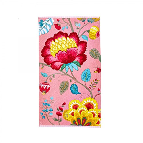 PIP Studio 260256201001Floral Fantasy Handtuch aus Baumwolle, Rose, 30 x 50 cm