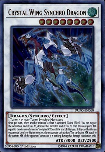 Yu-Gi-Oh! - Crystal Wing Synchro Dragon - DUPO-EN068 - Ultra Rare - 1st Edition - Duel Power