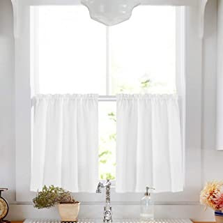 White Tier Curtains for Kitchen 24