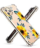 GVIEWIN iPhone 11 Pro Max Case 6.5, Clear Flower Design