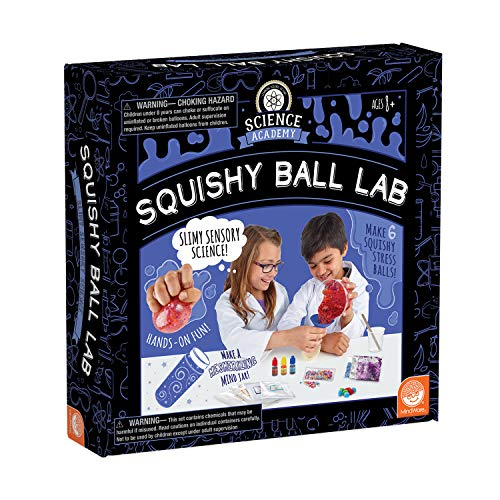 MindWare Science Academy Squishy Ball lab - Kids & Teens Make 3 Squishy Ball Stress Toys with Our 35pc Set - Wild & Weird Experiments for Boys & Girls - Great Educational Gift