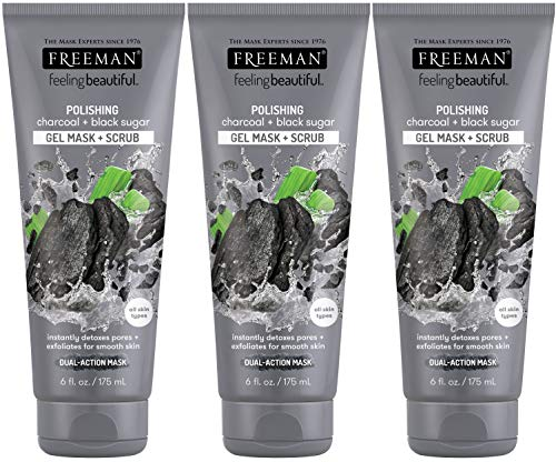 Freeman Facial Charcoal & Black Sugar Polish Mask 6 oz. - Set of 3