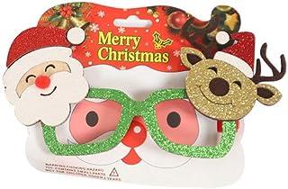 Decorazione per Montature per Occhiali di Natale Novità Fancy Dress Pupazzo di Neve Babbo Natale Occhiali da Vista Prop