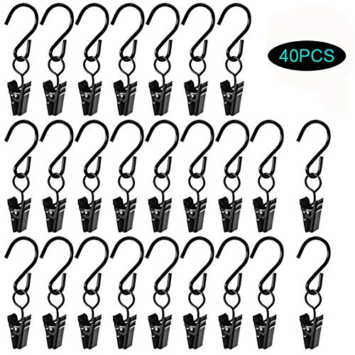 æ— 40 Pcs S-Shaped Hooks Christmas Decoration Clip Photo Clip, Light String Clip, Multifunctional Hook Curtain Clip, Bathroom Hotel Bedroom Decoration Clip