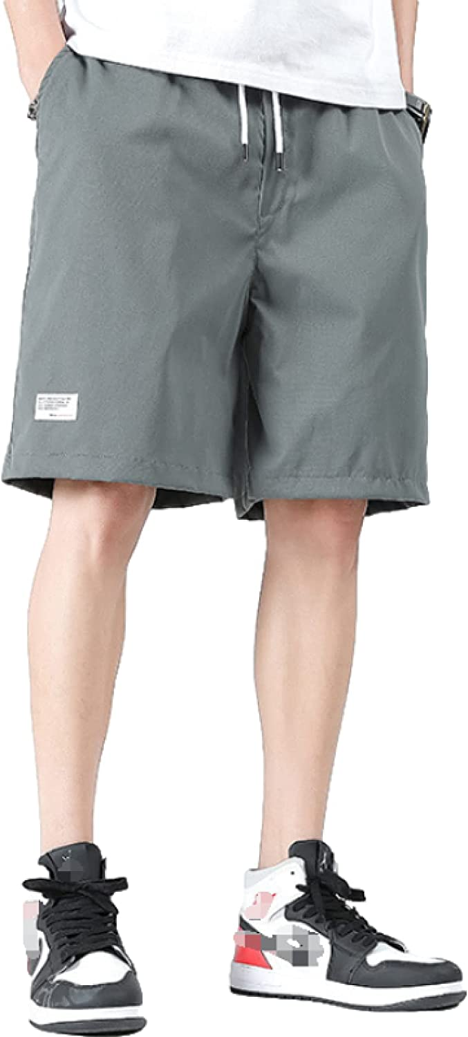 Men's Trendy All-Match Shorts Summer Casual Mid Waist Comfortable Breathable