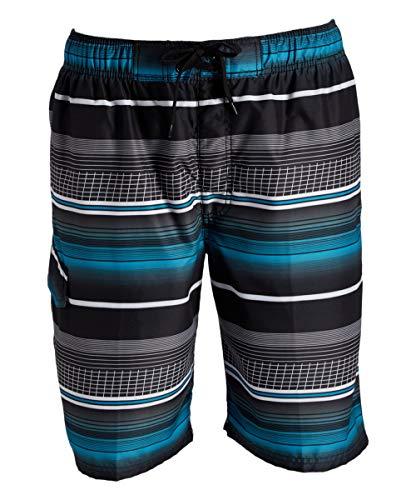 Kanu Surf Men's Legacy Swim Trunks (Regular & Extended Sizes), Sprint Black, Large