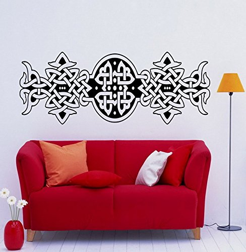 Celtic Cross Wall Decal Celtic Knot Decals Wall Vinyl Sticker Abstract Art Design Nice Picture Murals (3cel2t)