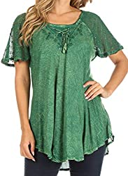 One Size : ( Fits Approx US Dress Size 0-16, UK Size 6-20, EU Size 34-48 ) Max bust size of 44 Inches, Approximate Length = 29 inches ( 73 cm ) Measured shoulder to hem. Plus Size: ( US Top Size 0 - 2X, UK Top Size 6-24,EU Top Size 34-52 )Max bust si...
