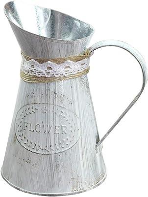 White Justnile Beautiful vintage in ceramica brocca vaso Short