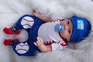 iCradle Real Life 22inch 55cm Reborn Baby Doll Soft Silicone Baby Boy Doll Toy for Ages 3+