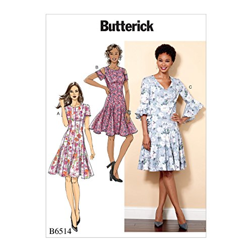 Butterick Patterns 6514 A5 Miss Petite Kleid Schnittmuster, Tissue, mehrfarbig, 17 x 0,5 x 22 cm