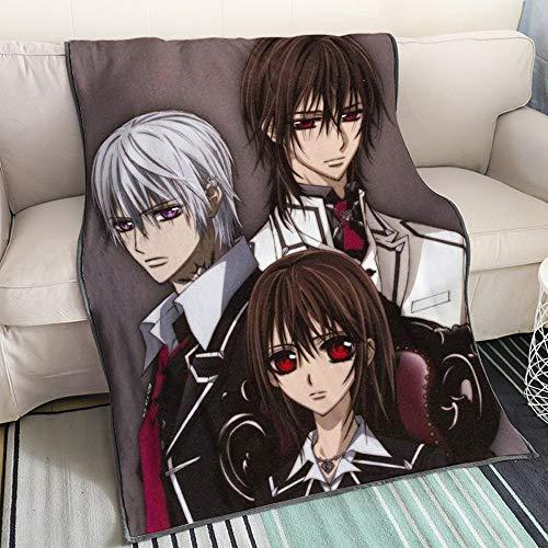 KaiWenLi Vampire Knight-Kiryu Zero and Kurosu, Kuran Kaname Dress/Cartoon Blanket/Single-Sided Pattern/Best Heating Bedding/Easy to Clean/Soft and Comfortable/Suitable for Adults, Children
