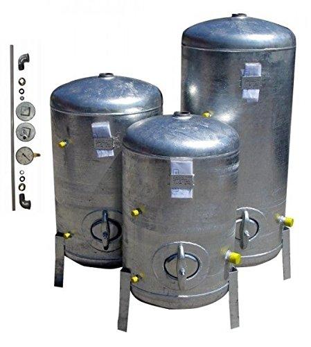 Druckbehälter 200 L 9 bar mit Zubehör senkrecht verzinkt Druckkessel verzinkt für Hauswasserwerk senkrecht