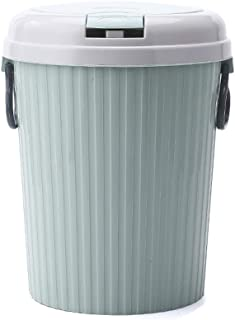 C-J-Xin Splash-Type Trash can, Plastic with lid Storage Trash can Bedroom Trash can Living Room Kitchen Trash can Office B...