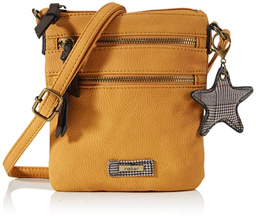Rieker H1009, Bolsa de hombro para Mujer, Amarillo 68, Small