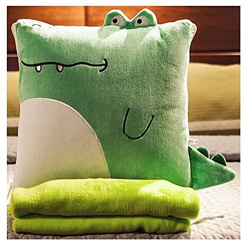 Almohada Sleepling Basic de microfibra para sofá, cojín acolchado multifuncional, suave y cómodo y se utiliza en dormitorios, sofás y coches (color: Baby Crocodile, tamaño: 40 x 150)