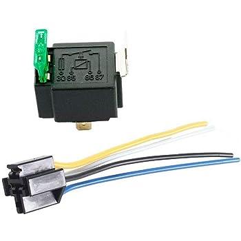 SUNERLORY Rel/è 12V con fusibili Accessori portafusibili Auto Elettronica fusa 30A 4 Pin ON//off Automotive