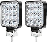 2 PCS Faros de Trabajo LED Tractor 9V-32V Luz de Trabajo Cuadrados Disipación de Calor IP67 Impermeable para SUV/UTV/ATV Excavadora Camión Coche