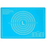 Silicone Pastry Mat Non Stick with Measurements(25.4''×17.7'')for Baking Mat Extra La...