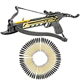 KingsArchery Crossbow Self-Cocking 80 LBS with Adjustable Sights and a Total of 63 Aluminim Arrow Bolt Set Warranty
